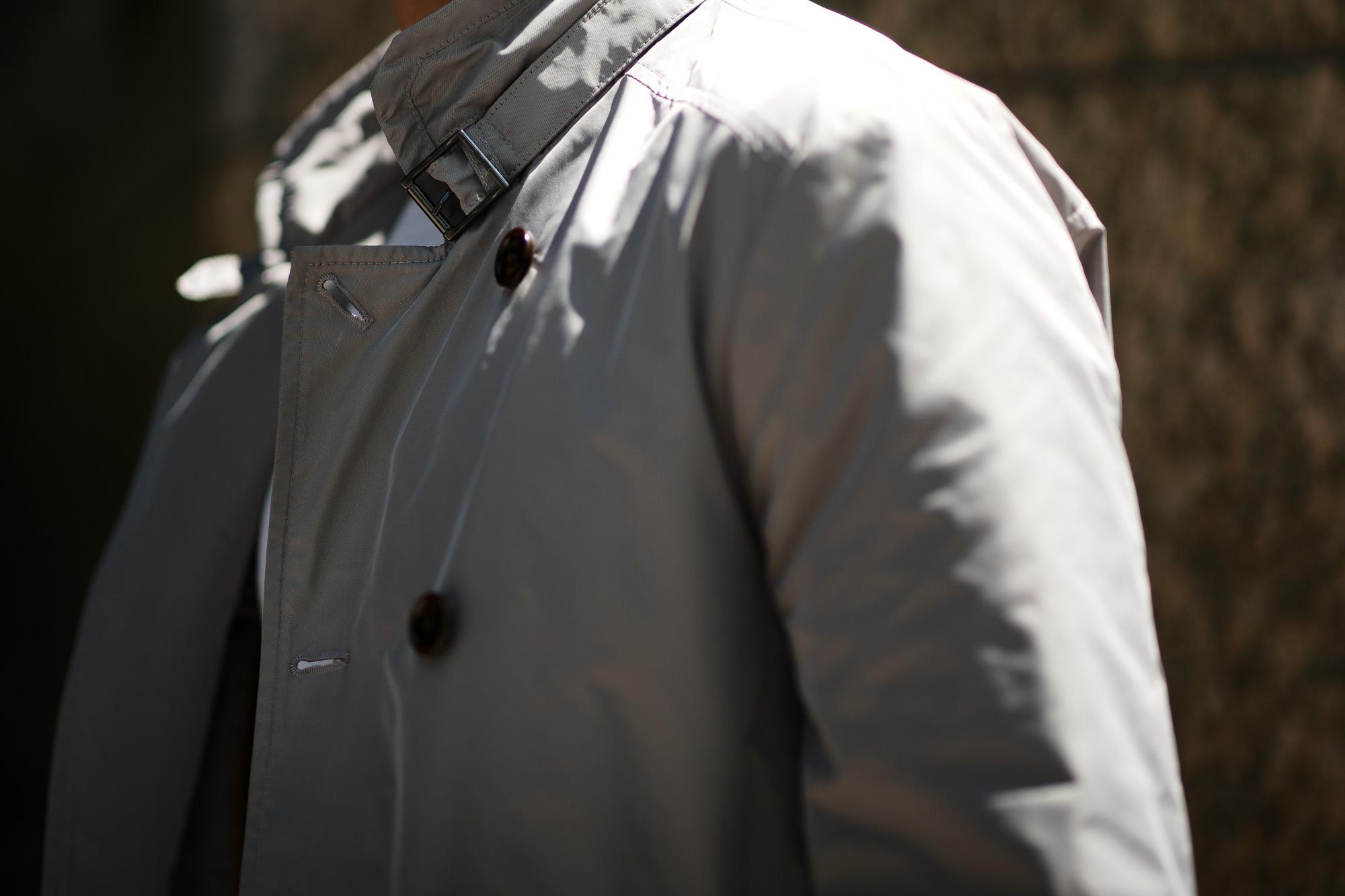 MOORER (ムーレー) SC / MORANDI-KM (モランディ) ポリエステル ダブルブレスト スタンドカラー スプリング コート MARMO (グレー) Made in italy (イタリア製) 2019 春夏新作 愛知 名古屋 altoediritto アルトエデリット