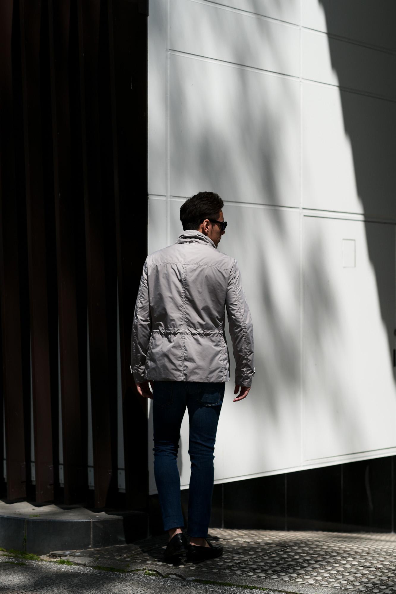 MOORER (ムーレー) NABUCCO-KM (ナブッコ) ダブルブレスト スタンドカラー ナイロン ジャケット MARMO (グレー) Made in italy (イタリア製) 2019 春夏新作 愛知 名古屋 alto e diritto アルトエデリット