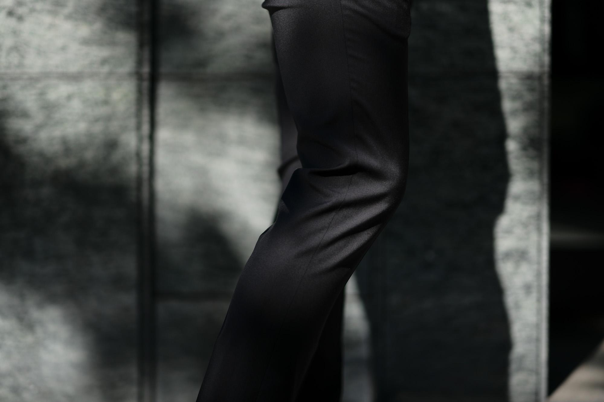 VIGANO (ヴィガーノ) WASHABLE SLACKS (ウォッシャブル スラックス) ウォッシャブル トロピカルウール テーパード ワンプリーツ パンツ BLACK (ブラック・998) 2019 春夏新作 スラックス グレスラ altoediritt 名古屋 愛知 アルトエデリット