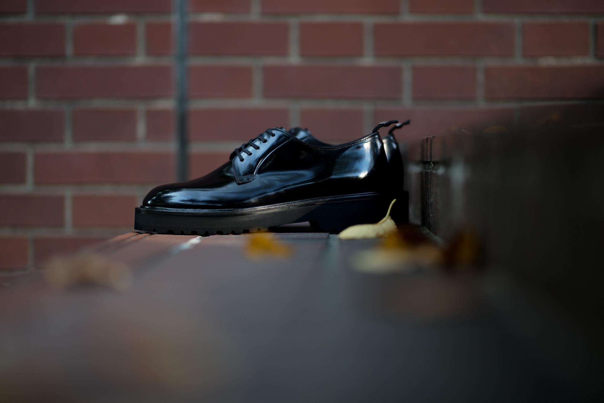 WH (ダブルエイチ) WHZ-0010 Cordovan Plane Toe Shoes (干場氏 スペシャル Zモデル) Birdie Last (バーディラスト) Shell Cordovan シェルコードバンレザー プレーントゥシューズ BLACK (ブラック) MADE IN JAPAN (日本製) 2019 秋冬 【Special限定モデル】【7月27日発売分】【ご予約受付中】 愛知 名古屋 alto e diritto altoediritto アルトエデリット