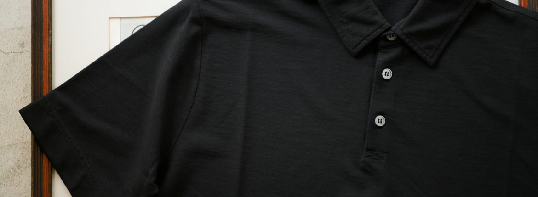 ZANONE(ザノーネ) Polo Shirt ice cotton アイスコットン ポロシャツ BLACK (ブラック・Z0015) made in italy (イタリア製) 2019 春夏新作 愛知 名古屋 altoediritto アルトエデリット