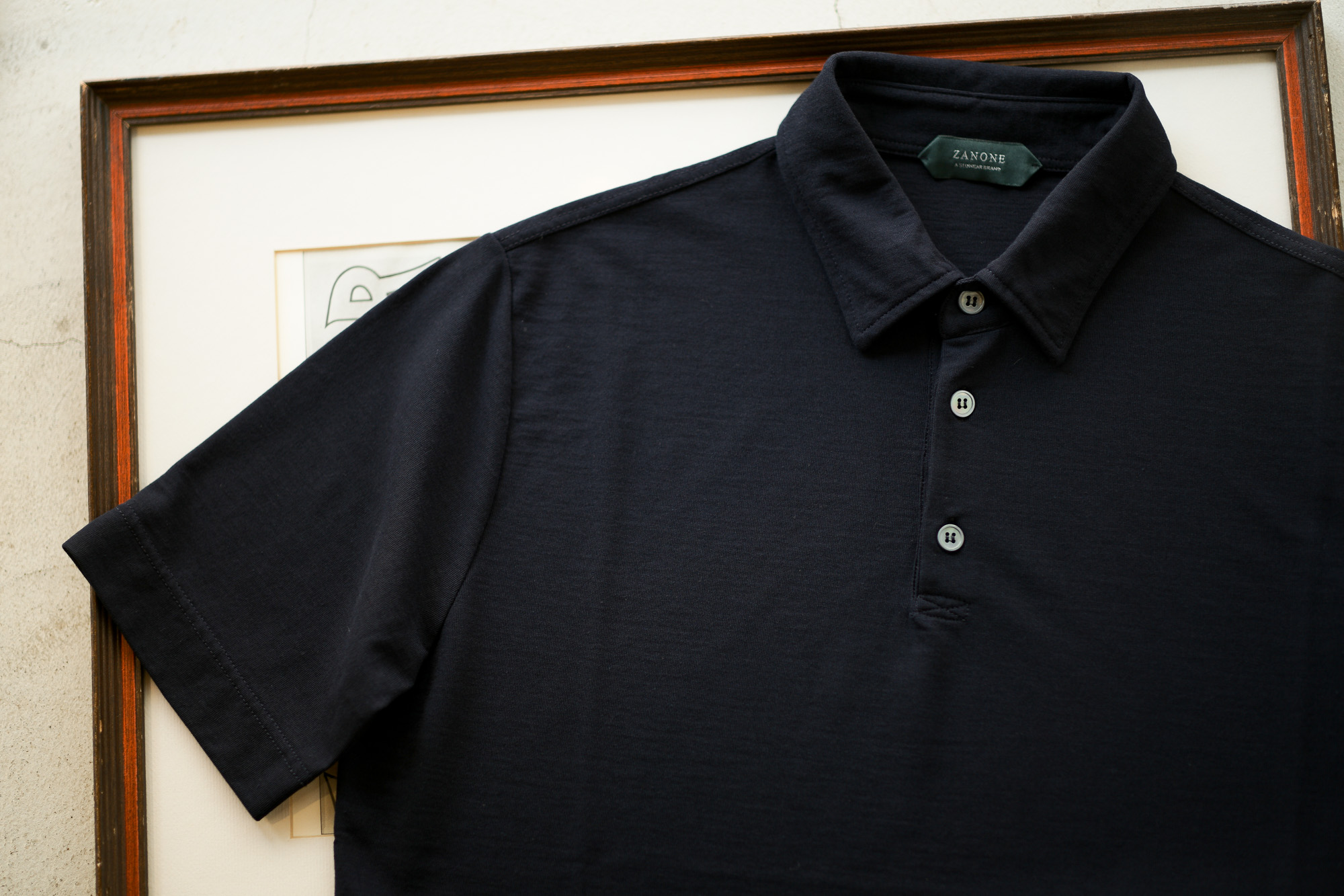 ZANONE(ザノーネ) Polo Shirt ice cotton アイスコットン ポロシャツ NAVY (ネイビー・Z0542)  made in italy (イタリア製) 2019 春夏新作 愛知 名古屋 altoediritto アルトエデリット