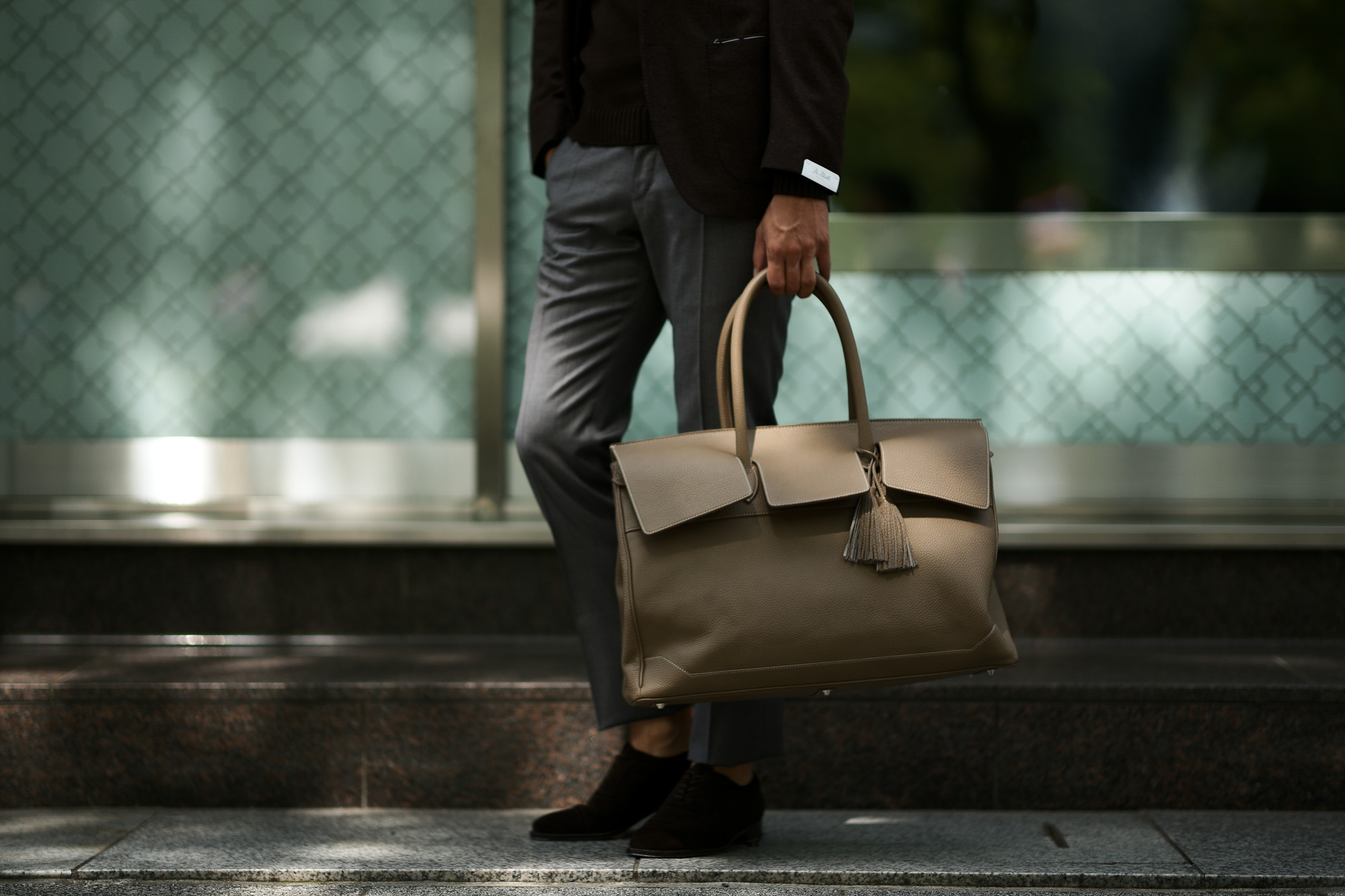 ACATE(アカーテ)OSTRO(オストロ) Montblanc leather(モンブランレザー) トートバック レザーバック TAUPE(トープ) MADE IN ITALY(イタリア製) 2019 秋冬新作 愛知 名古屋 altoediritto アルトエデリット