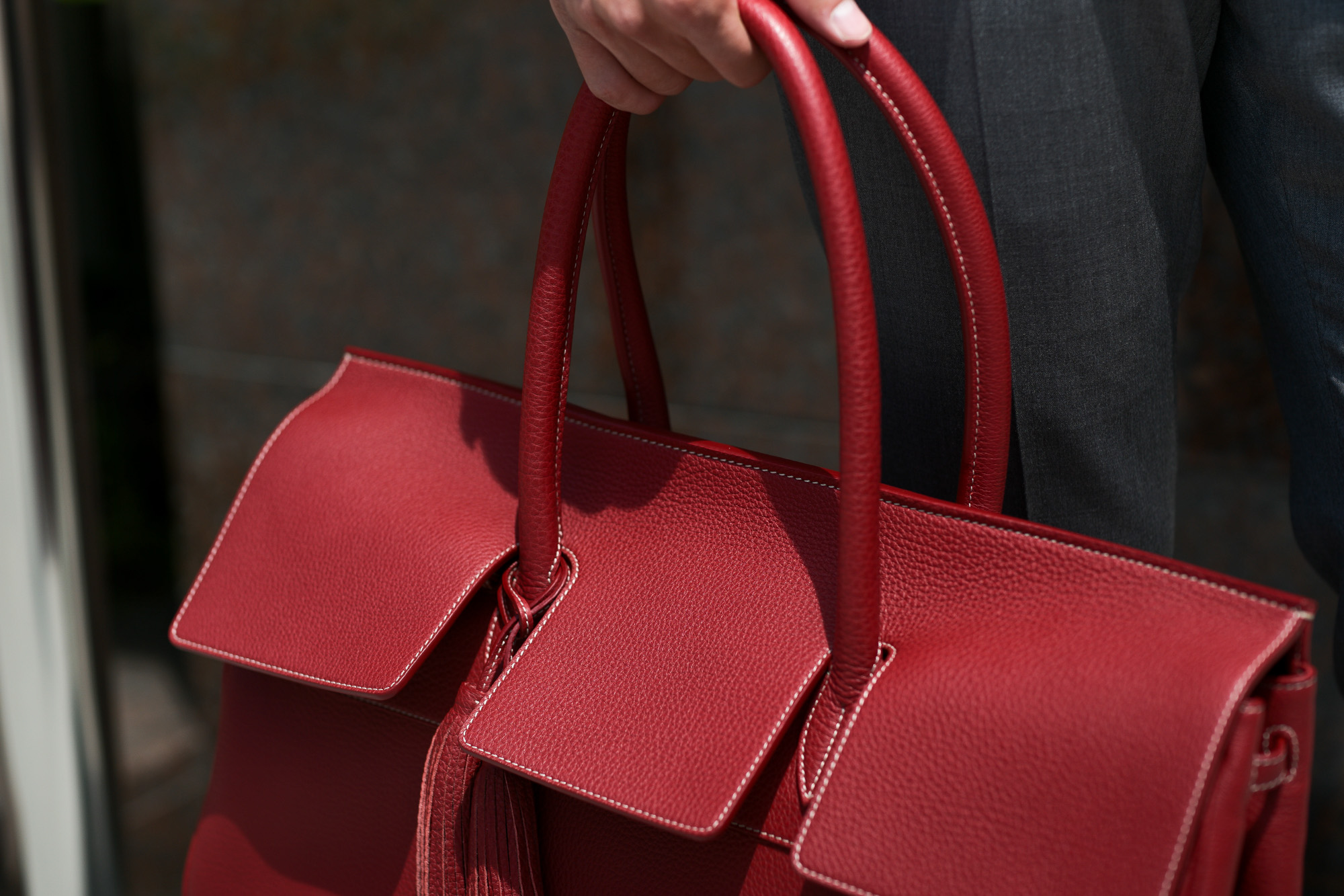 ACATE(アカーテ)OSTRO(オストロ) Montblanc leather(モンブランレザー) トートバック レザーバック ROSSO(ロッソ) MADE IN ITALY(イタリア製) 2019 秋冬新作 愛知 名古屋 altoediritto アルトエデリット