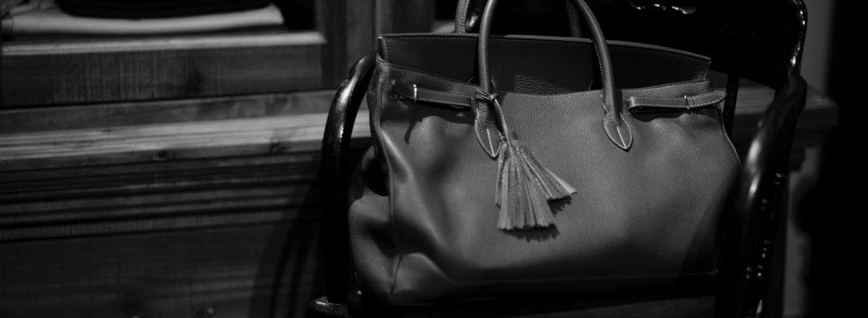 ACATE(アカーテ)OSTRO-M(オストロ-M) Montblanc leather(モンブランレザー) トートバック レザーバック NERO(ネロ) MADE IN ITALY(イタリア製) 2019 秋冬新作 【第3便ご予約受付中】のイメージ
