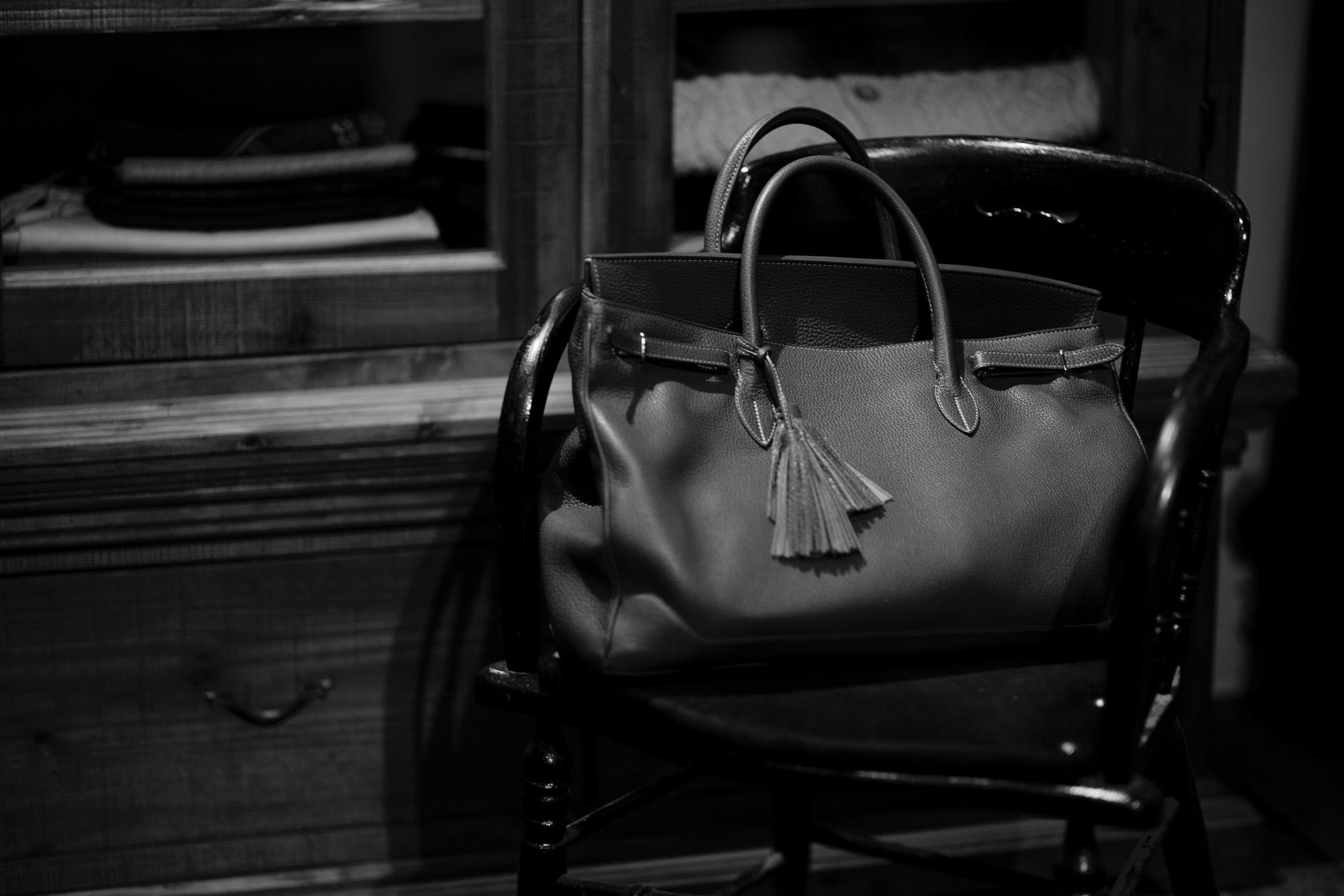 ACATE(アカーテ)OSTRO-M(オストロ-M) Montblanc leather(モンブランレザー) トートバック レザーバック NERO(ネロ) MADE IN ITALY(イタリア製) 2019 秋冬新作 【第3便ご予約開始】愛知 名古屋 altoediritto アルトエデリット トートバック