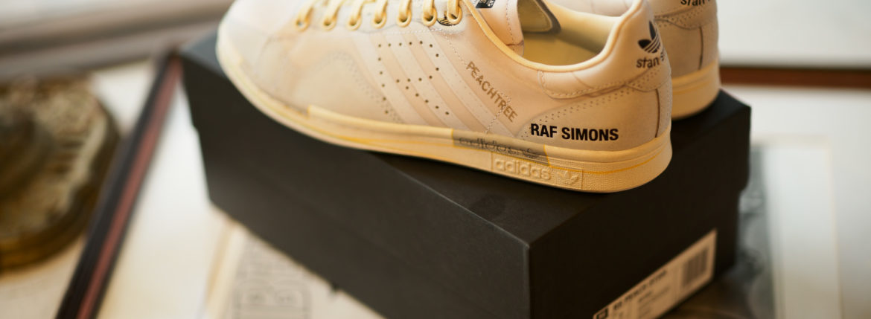 adidas by RAF SIMONS (アディダス バイ ラフシモンズ) RS PEACH STAN (RS ピーチ スタン) EE7952 スニーカー LGTSAN/FTWWHT/CWHITE (ホワイト) 2019のイメージ
