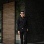 AVINO(アヴィーノ) Poplin Dress Shirts コットン ブロード ポプリン ドレスシャツ BLACK(ブラック) made in italy (イタリア製) 2019 秋冬 【ご予約受付中】のイメージ