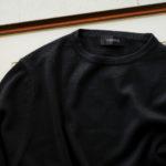 Cuervo (クエルボ) Sartoria Collection (サルトリア コレクション) Harrison(ハリソン) Silk Cashmere Crew Neck Sweater (シルクカシミヤ クルーネックセーター) ハイゲージ ニット セーター BLACK (ブラック) 2019 秋冬のイメージ