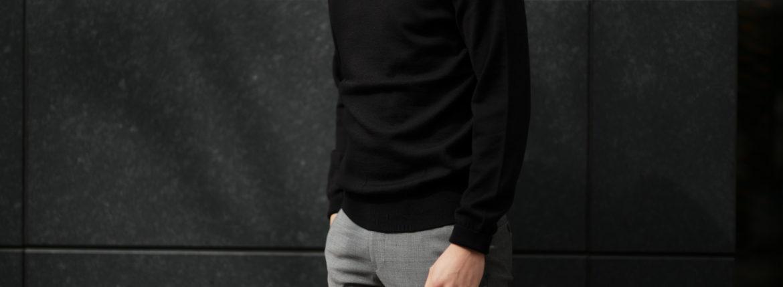 Cuervo (クエルボ) Sartoria Collection (サルトリア コレクション) John(ジョン) Turtle Neck Sweater (タートルネックセーター) ウールニット セーター BLACK (ブラック) MADE IN JAPAN (日本製) 2019 秋冬 【ご予約受付中】愛知 名古屋 altoediritto アルトエデリット