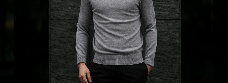 Cuervo (クエルボ) Sartoria Collection (サルトリア コレクション) John(ジョン) Turtle Neck Sweater (タートルネックセーター) ウールニット セーター GRAY (グレー) MADE IN JAPAN (日本製) 2019 秋冬 【ご予約受付中】のイメージ