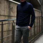 Cuervo (クエルボ) Sartoria Collection (サルトリア コレクション) John(ジョン) Turtle Neck Sweater (タートルネックセーター) ウールニット セーター NAVY (ネイビー) MADE IN JAPAN (日本製) 2019 秋冬 【ご予約受付中】のイメージ