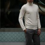 Cuervo (クエルボ) Sartoria Collection (サルトリア コレクション) John(ジョン) Turtle Neck Sweater (タートルネックセーター) ウールニット セーター WHITE (ホワイト) MADE IN JAPAN (日本製) 2019 秋冬 【ご予約受付中】のイメージ