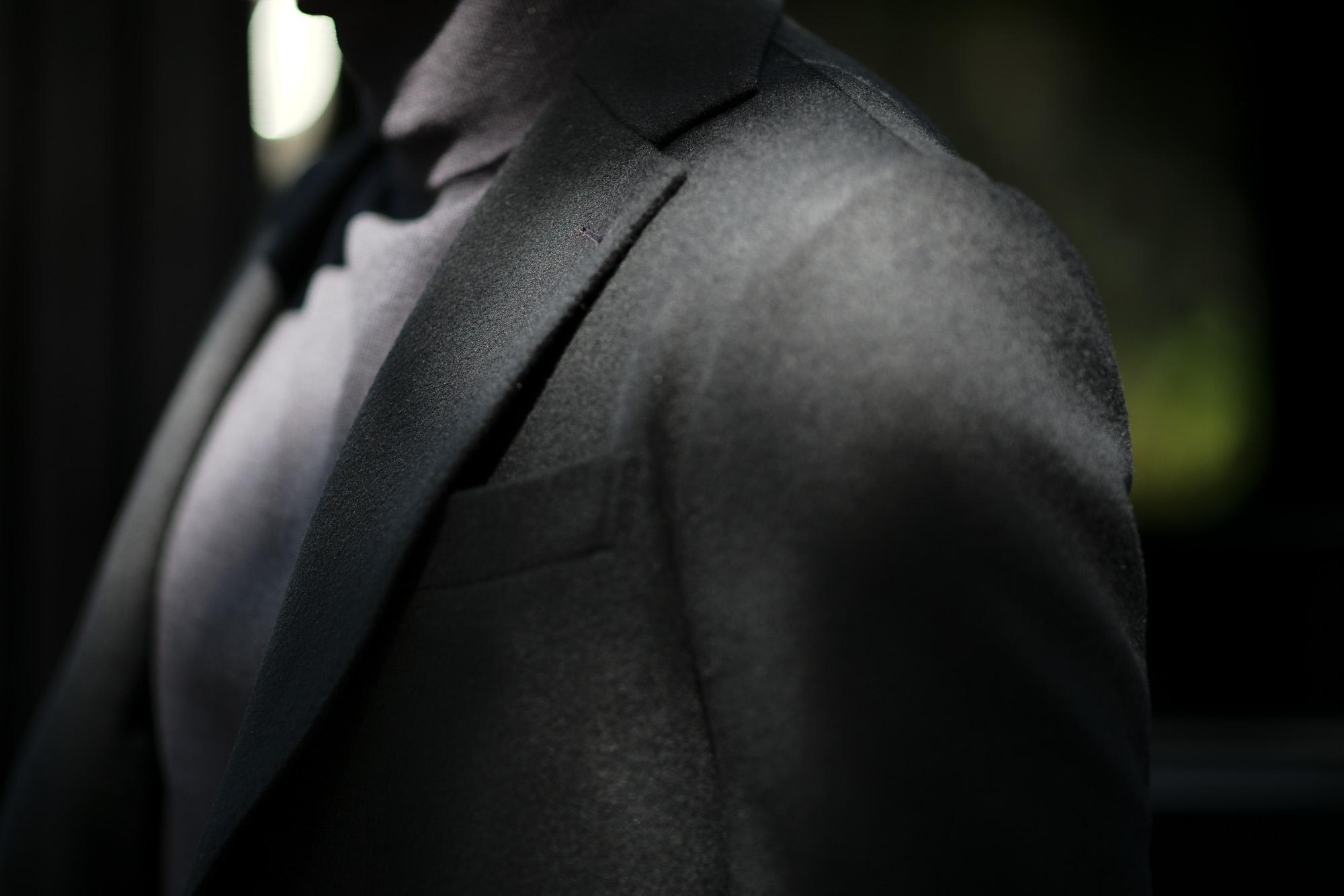 Cuervo (クエルボ) Sartoria Collection (サルトリア コレクション) Lobb (ロブ) Cashmere カシミア 3B ジャケット BLACK (ブラック) MADE IN JAPAN (日本製) 2019 秋冬 【ご予約開始】 愛知 名古屋 altoediritto アルトエデリット スーツ ジャケット カシミヤ
