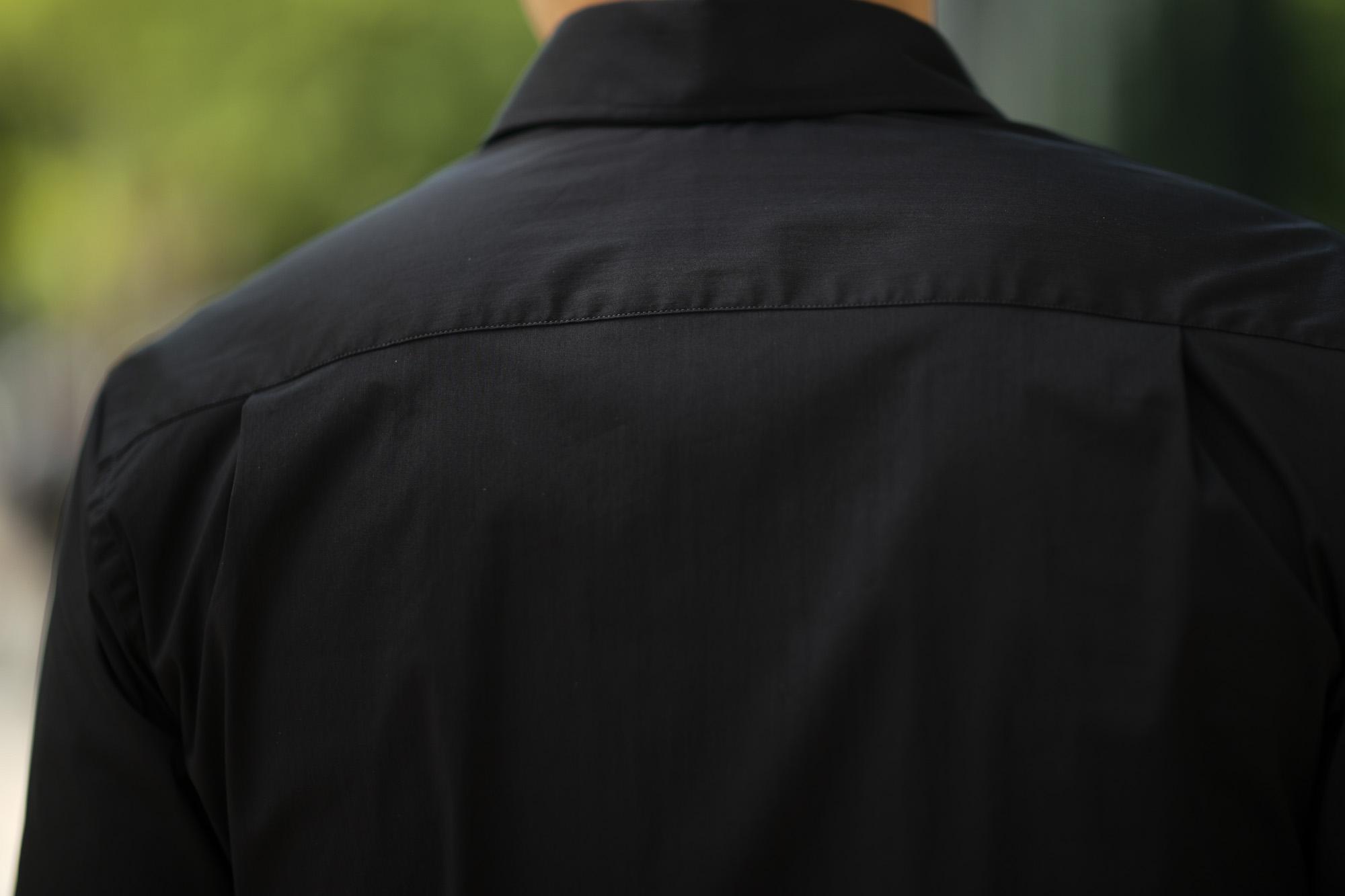 Cuervo クエルボ Sartoria Collection Pierピエル STRETCH COTTON ストレッチコットン シャツ BLACK ブラック イタリア製 2019 春夏 新色ブラック入荷 イタリアシャツ 愛知 名古屋 altoediritto アルトエデリット
