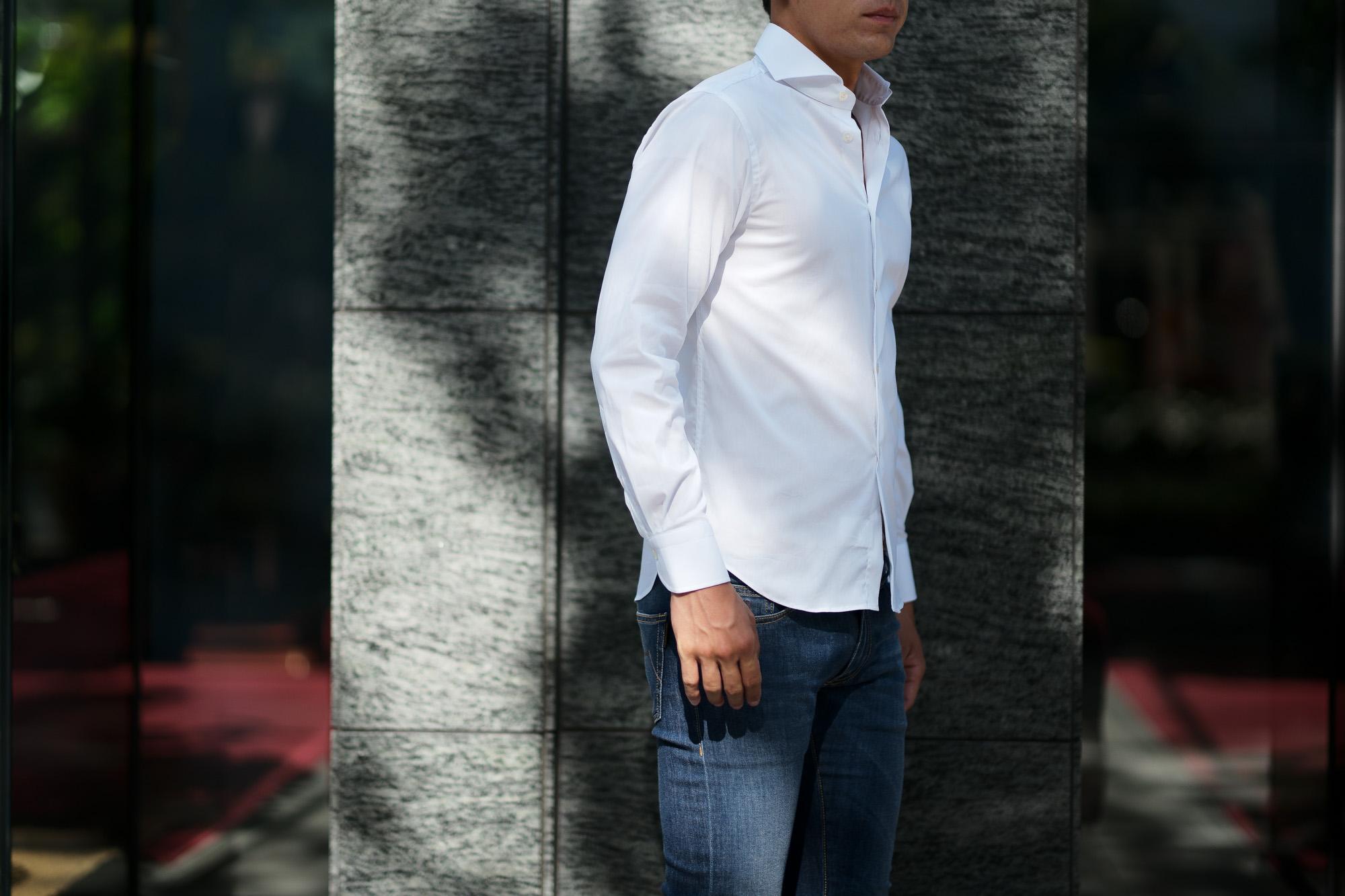 Cuervo (クエルボ) Sartoria Collection (サルトリア コレクション) Pier(ピエル) STRETCH COTTON ストレッチコットン シャツ WHITE(ホワイト) MADE IN ITALY (イタリア製) 2019 春夏新作 イタリアシャツ 愛知 名古屋 altoediritto アルトエデリット