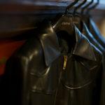 Cuervo (クエルボ) Satisfaction Leather Collection (サティスファクション レザー コレクション) East West(イーストウエスト)  SMOKE(スモーク) BUFFALO LEATHER (バッファロー レザー) レザージャケット BLACK(ブラック) MADE IN JAPAN (日本製) 2019 秋冬新作 【入荷しました】【フリー分発売開始】のイメージ