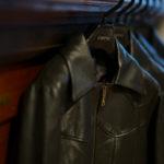 Cuervo (クエルボ) Satisfaction Leather Collection (サティスファクション レザー コレクション) East West(イーストウエスト)  SMOKE(スモーク) BUFFALO LEATHER (バッファロー レザー) レザージャケット BROWN(ブラウン) MADE IN JAPAN (日本製) 2019 秋冬新作 【入荷しました】【フリー分発売開始】のイメージ