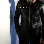 Cuervo (クエルボ) Satisfaction Leather Collection (サティスファクション レザー コレクション) HUNK(ハンク) BUFFALO LEATHER (バッファロー レザー) レザージャケット BLACK(ブラック) MADE IN JAPAN (日本製) 2019 秋冬 【ご予約受付中】のイメージ