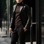 Cuervo (クエルボ) Satisfaction Leather Collection (サティスファクション レザー コレクション) LEON (レオン) BUFFALO LEATHER (バッファロー レザー) シングル テーラード ジャケット BLACK (ブラック) MADE IN JAPAN (日本製) 2019 秋冬 【ご予約受付中】のイメージ