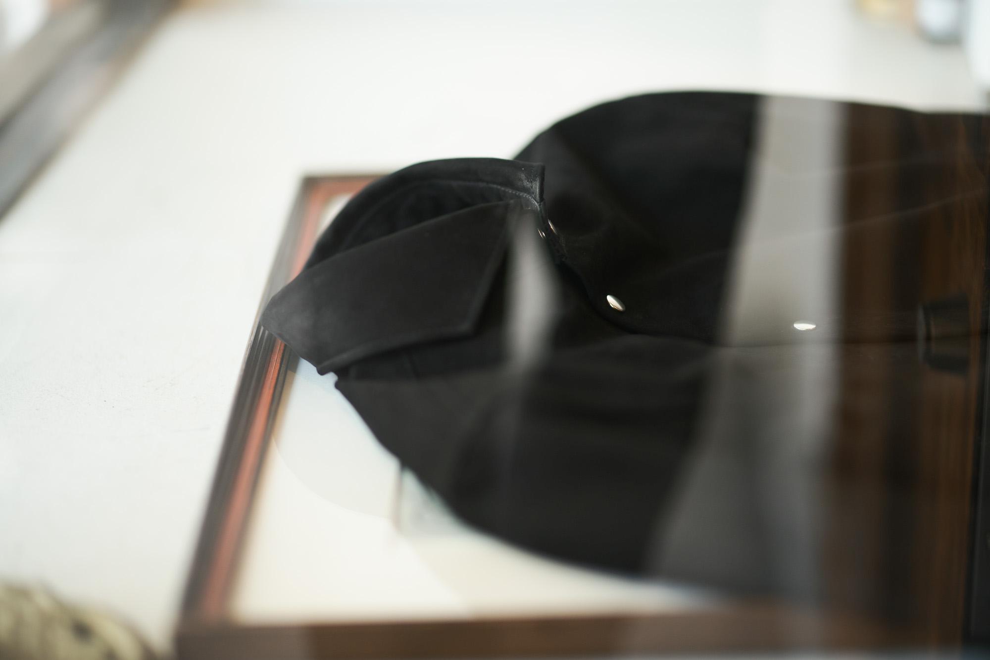 Cuervo (クエルボ) Satisfaction Leather Collection (サティスファクション レザー コレクション) Noel (ノエル) HORSE NUBUCK ホースヌバック レザーシャツ BLACK (ブラック) MADE IN JAPAN (日本製) 2019 秋冬 altoediritto アルトエデリット ヌバックシャツ レザージャケット