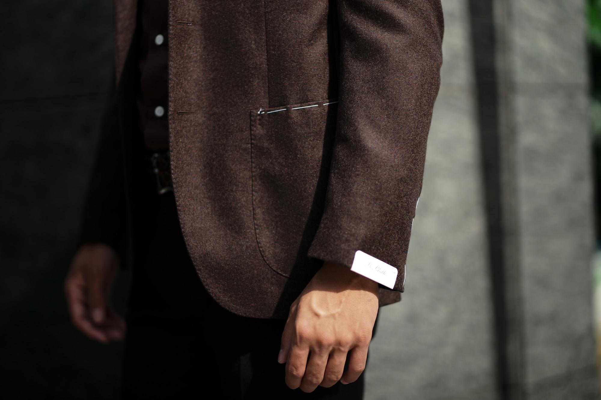 De Petrillo (デ ペトリロ) NAPOLI Posillipo (ナポリ ポジリポ) カシミア モールスキン 段返り3B ジャケット BROWN (ブラウン・358) Made in italy (イタリア製) 2019 秋冬 【ご予約受付中】 depetrillo デペトリロ 愛知 名古屋 altoediritto アルトエデリット