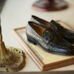 ENZO BONAFE (エンツォボナフェ) ART. EB-08 Crocodile Coin Loafer (クロコダイル コイン ローファー) Mat Crocodile Leather マット クロコダイル レザー ドレスシューズ ローファー NERO (ブラック) made in italy (イタリア製) 2020 春夏 【ご予約受付中】のイメージ