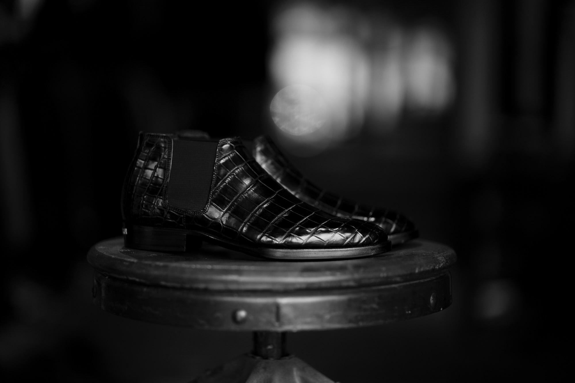 Georges de Patricia(ジョルジュ ド パトリシア) Diablo Crocodile (ディアブロ クロコダイル) 925 STERLING SILVER (925 スターリングシルバー) Crocodile クロコダイル エキゾチックレザー サイドゴアブーツ NOIR (ブラック) 【Special Boots】【第2便ご予約受付中】アルトエデリット ジョルジュドパトリシア ブーツ 超絶ブーツ ランボルギーニ ディアブロ lamborghini