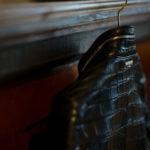 Georges de Patricia (ジョルジュ ド パトリシア) Huracan Porosus Crocodile(ウラカン ポロサス クロコダイル) 925 STERLING SILVER (925 スターリングシルバー) Porosus Crocodile ポロサス クロコダイル エキゾチックレザー ダブルライダース ジャケット NOIR (ブラック) 2019 秋冬 【Speicial Model】のイメージ