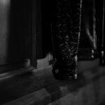 Georges de Patricia (ジョルジュ ド パトリシア) Huracan Porosus Crocodile(ウラカン ポロサス クロコダイル) 925 STERLING SILVER (925 スターリングシルバー) Porosus Crocodile ポロサス クロコダイル エキゾチックレザー ダブルライダース ジャケット NOIR (ブラック) 2019 秋冬 【Special Model】のイメージ