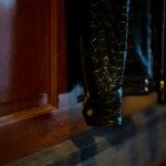 Georges de Patricia (ジョルジュ ド パトリシア) Huracan Porosus Crocodile(ウラカン ポロサス クロコダイル) 925 STERLING SILVER (925 スターリングシルバー) Porosus Crocodile ポロサス クロコダイル エキゾチックレザー ダブルライダース ジャケット NOIR (ブラック) 2019 秋冬 【Speicial Model】愛知 名古屋 alto e diritto アルトエデリット
