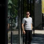 Gran Sasso (グランサッソ) Silk Knit T-shirt (シルクニット) SETA (シルク 100%) ショートスリーブ シルク ニット Tシャツ GREY (グレー・056) made in italy (イタリア製) 2019 春夏新作のイメージ