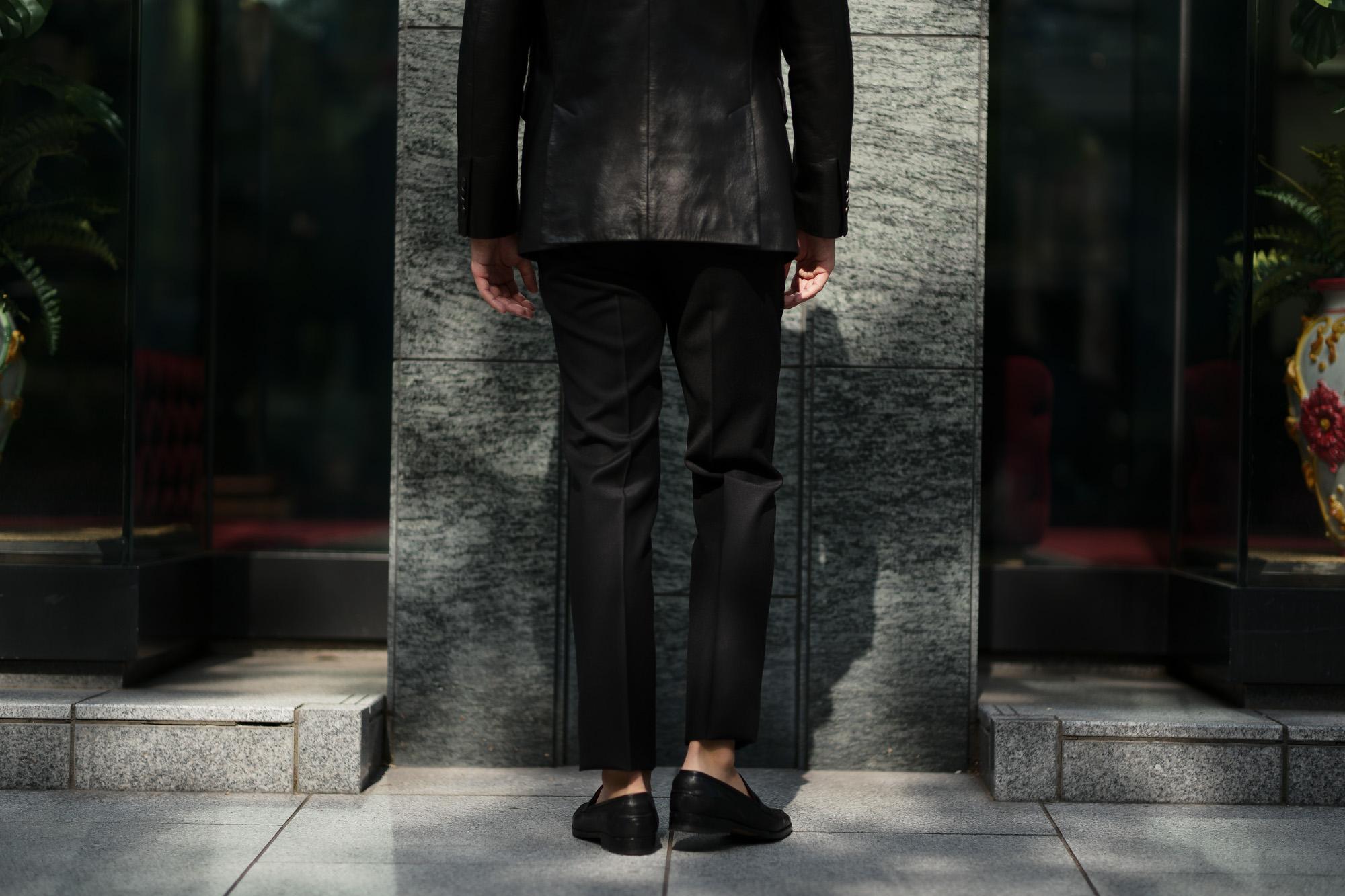 INCOTEX (インコテックス) N35 SLIM FIT (1NT035) SUPER 100'S WORSTED FLANNEL フランネル ウール スラックス BLACK (ブラック・990) 2019 秋冬 【ご予約受付中】 愛知 名古屋 altoediritto アルトエデリット
