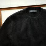 LAMBERTO LOSANI (ランベルト ロザーニ) Cashmere Crew Neck Sweater (カシミア クルーネック セーター) ローゲージ カシミアニット セーター BLACK (ブラック・0901) made in italy (イタリア製) 2019 秋冬のイメージ