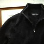 LAMBERTO LOSANI (ランベルト ロザーニ) Cashmere Zip Up Cardigan (カシミア ジップアップ カーディガン) ローゲージ カシミアニット カーディガン BLACK (ブラック・901) made in italy (イタリア製) 2019 秋冬のイメージ