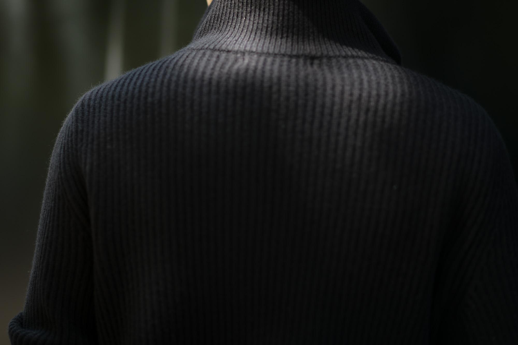 LAMBERTO LOSANI (ランベルト ロザーニ) Cashmere Zip Up Cardigan (カシミア ジップアップ カーディガン) ローゲージ カシミアニット カーディガン BLACK (ブラック・901) made in italy (イタリア製) 2019 秋冬 lambertolosani ランベルトロザーニ 愛知 名古屋 altoediritto アルトエデリット