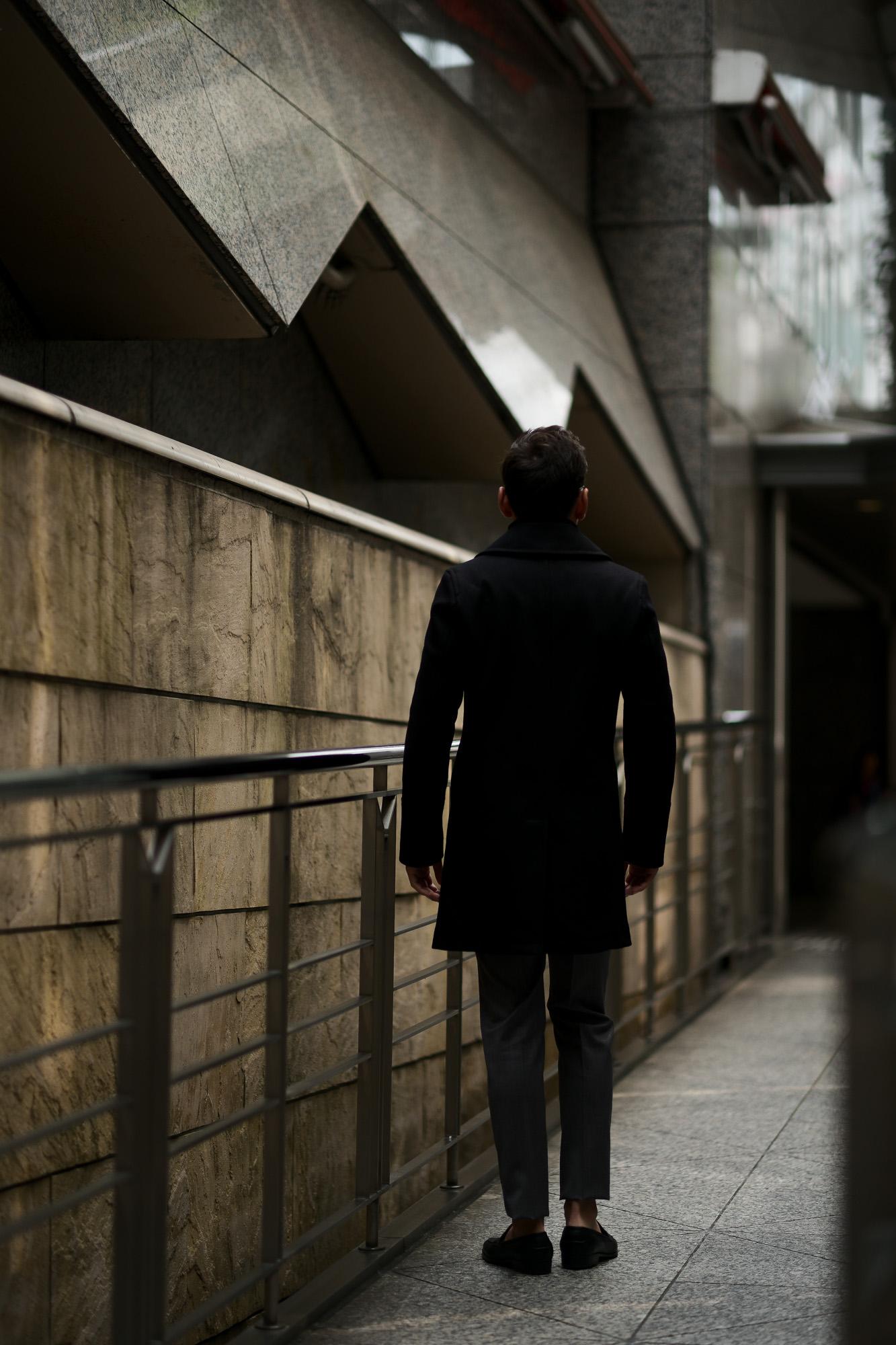 Sealup(シーラップ) GENOVA(ジェノバ) 50002 7591 01 メルトンウール サーモアライニング ロングPコート  BLACK (ブラック・36) MADE IN ITALY(イタリア製) 2019 秋冬 【ご予約受付中】 シーラップ 愛知 名古屋 Alto e Diritto アルト エ デリット Pコート コート coat
