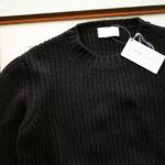 Settefili Cashmere (セッテフィーリ カシミア) Cashmere Crew Neck Sweater ローゲージ カシミアニット セーター BLACK (ブラック・CG102) made in italy (イタリア製) 2019 秋冬新作のイメージ