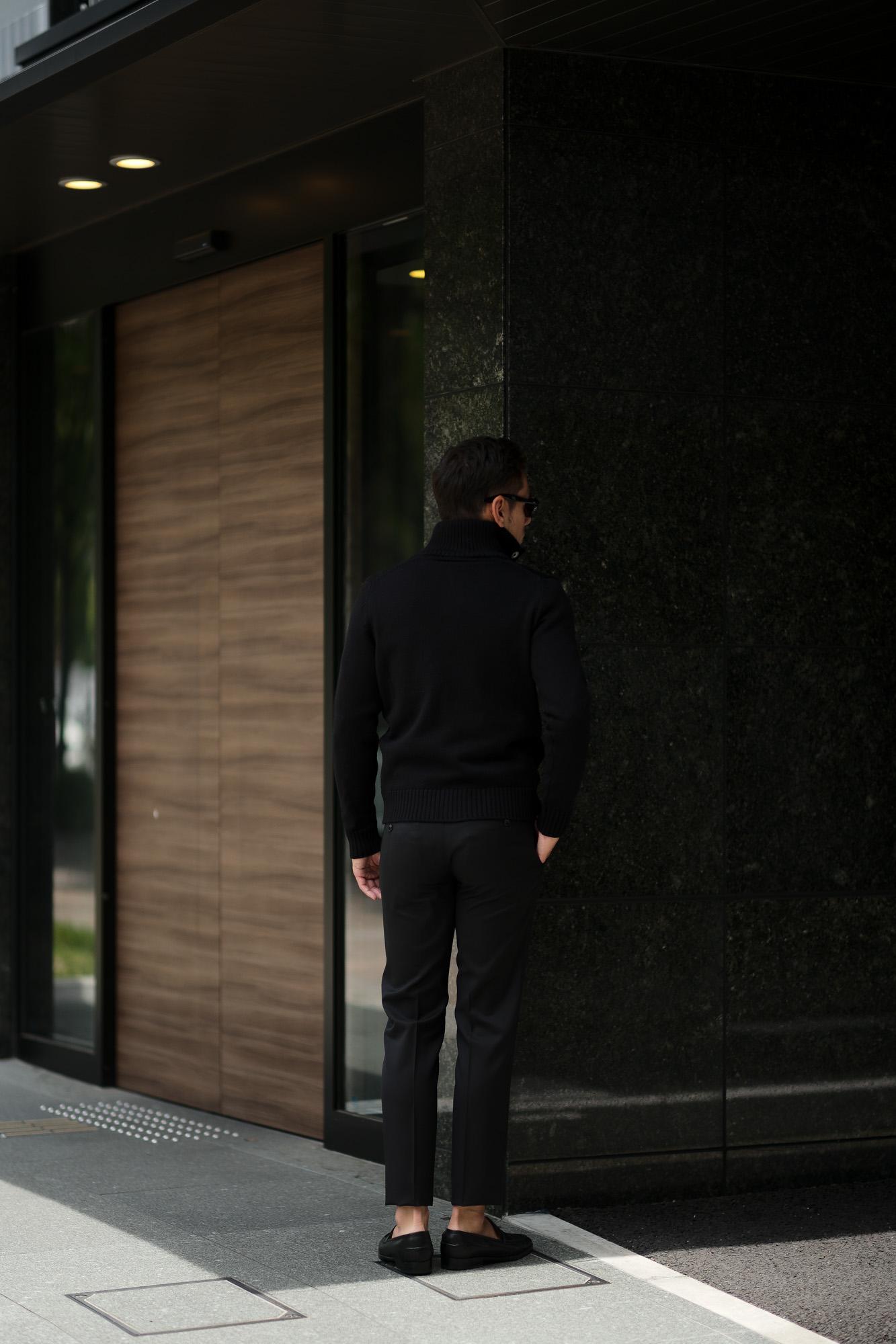 ZANONE (ザノーネ) CHIOTO KYOTO (キョウト キョート) 812218 z0229 (ミドルゲージ ニット ジャケット) BLACK (ブラック・Z0015) MADE IN ITALY(イタリア製) 2019 秋冬 【ご予約受付中】zanone 愛知 名古屋 Alto e Diritto アルト エ デリット alto e diritto アルトエデリット ニット