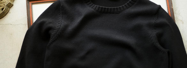 ZANONE (ザノーネ) Crew Neck Sweater (クルーネック セーター) 811258 Z0229 VIRGIN WOOL 100% ミドルゲージ ウールニット セーター BLACK (ブラック・Z0015) made in italy (イタリア製) 2019 秋冬 【ご予約受付中】 zanone ニット クルーネック 愛知 名古屋 Alto e Diritto アルト エ デリット