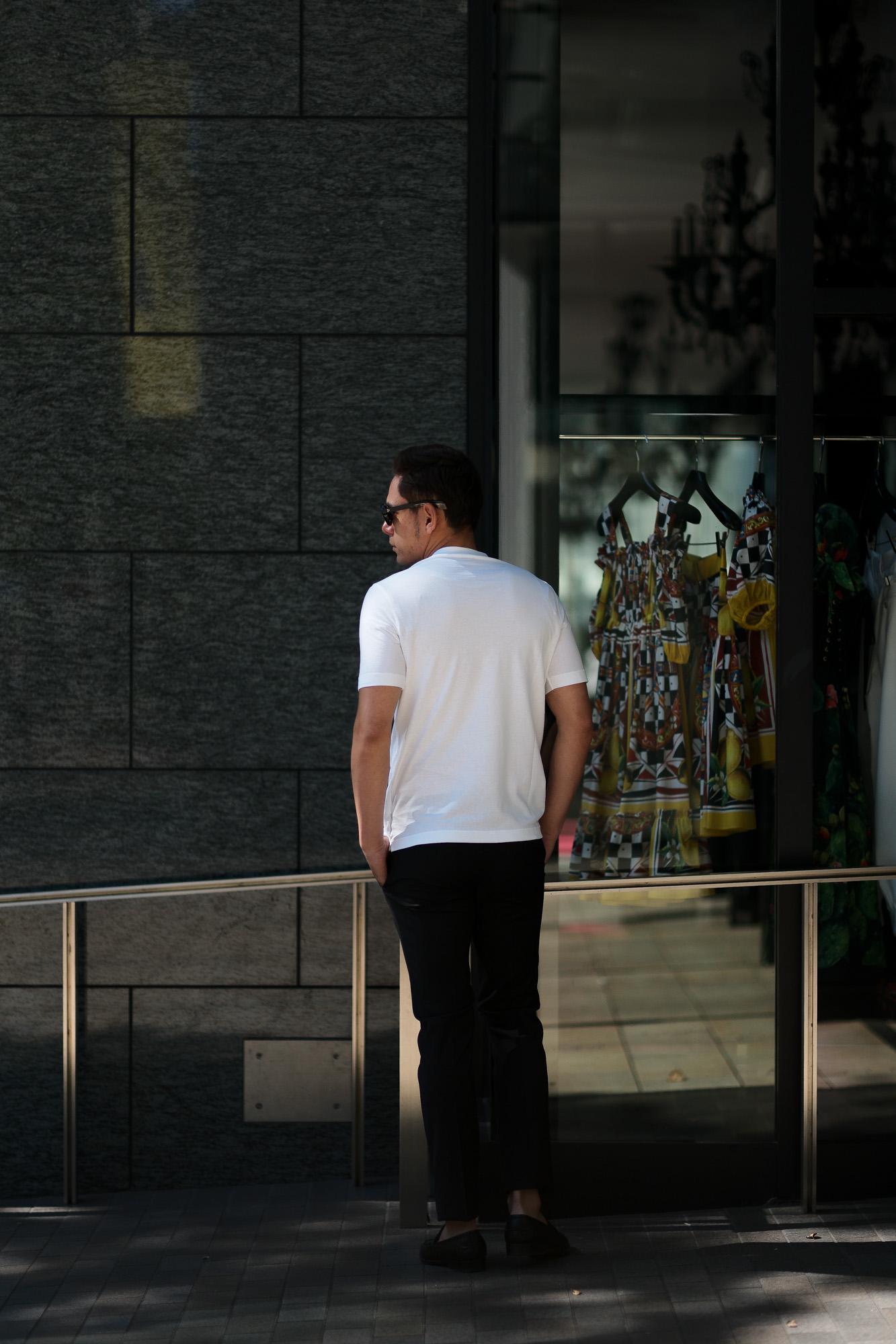 ZANONE (ザノーネ) Crew Neck T-shirt (クルーネックTシャツ) ice cotton アイスコットン Tシャツ WHITE (ホワイト・Z0001) MADE IN ITALY(イタリア製) 2019 春夏新作 愛知 名古屋 altoediritto アルトエデリット