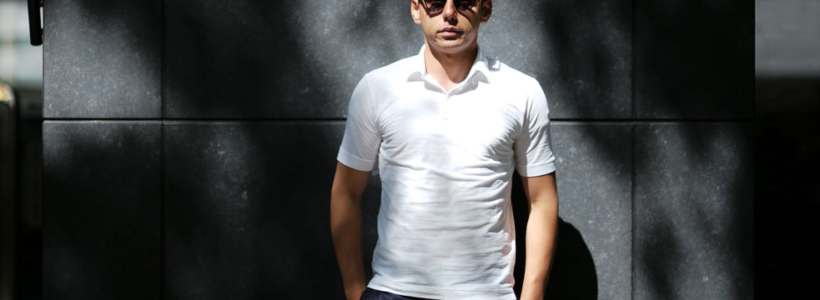 ZANONE(ザノーネ) Polo Shirt ice cotton アイスコットン ポロシャツ WHITE (ホワイト・Z0001) made in italy (イタリア製) 2019 春夏新作 愛知 名古屋 altoediritto アルトエデリット