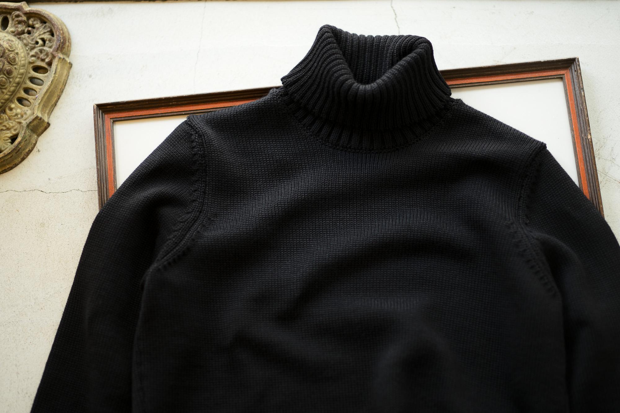 ZANONE (ザノーネ) Turtle Neck Sweater (タートルネックセーター) 810005 Z0229 VIRGIN WOOL 100% ミドルゲージ ウールニット セーター BLACK (ブラック・Z0015) made in italy (イタリア製) 2019 秋冬 【ご予約受付中】 zanone ニット クルーネック 愛知 名古屋 Alto e Diritto アルト エ デリット