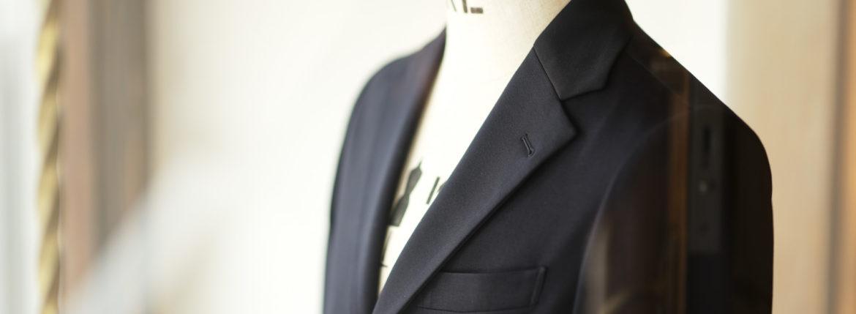 Cuervo (クエルボ) Sartoria Collection (サルトリア コレクション) Lobb (ロブ) Summer Jersey Jacket サマージャージー  3B ジャケット NAVY (ネイビー) MADE IN JAPAN (日本製) 2019 春夏新作 【ご予約受付中】のイメージ