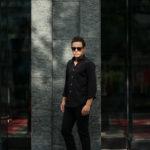 Cuervo (クエルボ) Sartoria Collection (サルトリア コレクション) Pier(ピエル) STRETCH COTTON ストレッチコットン シャツ BLACK (ブラック) MADE IN ITALY (イタリア製) 2019 春夏新作のイメージ