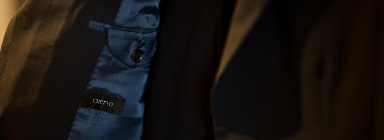 Cuervo (クエルボ) Sartoria Collection (サルトリア コレクション) Rooster (ルースター) STRETCH NYLON ストレッチナイロン スーツ NAVY (ネイビー) MADE IN JAPAN (日本製) 2019 春夏【オーダー分入荷】のイメージ