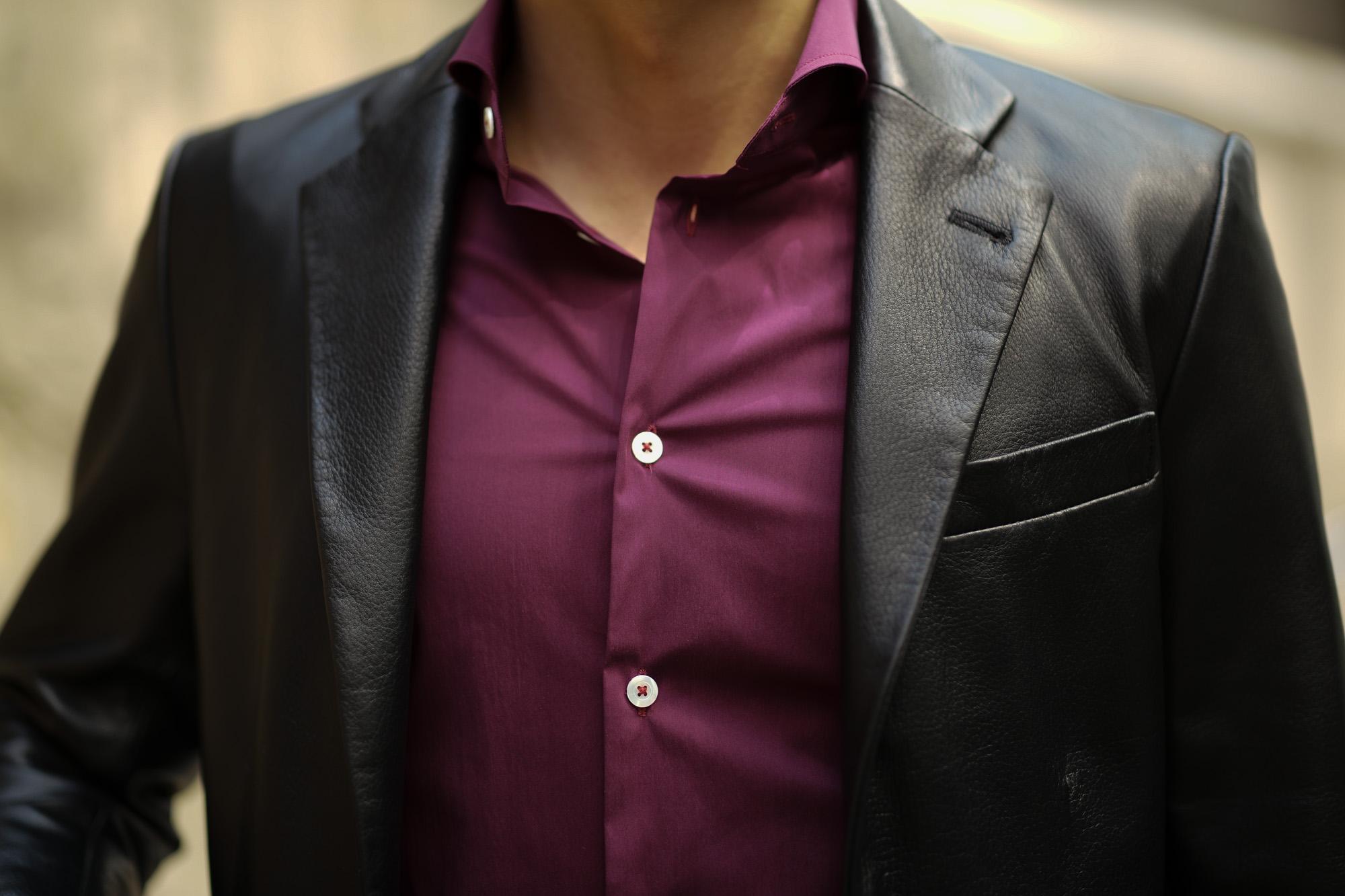 Cuervo (クエルボ) Satisfaction Leather Collection (サティスファクション レザー コレクション) LEON (レオン) BUFFALO LEATHER (バッファロー レザー) シングル テーラード ジャケット BLACK (ブラック) MADE IN JAPAN (日本製) 2019 秋冬 【ご予約受付中】愛知 名古屋 altoediritto アルトエデリット