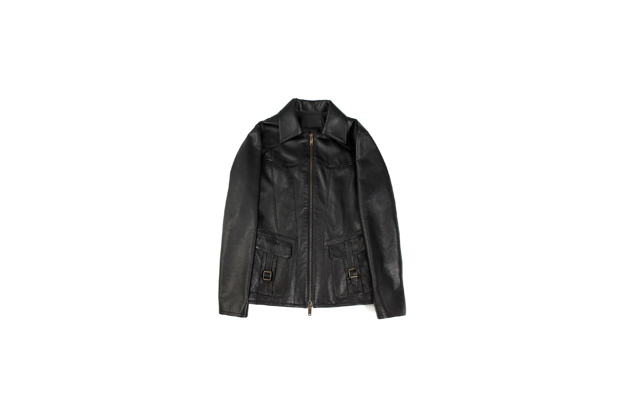 Cuervo (クエルボ) Satisfaction Leather Collection (サティスファクション レザー コレクション) East West(イーストウエスト)  SMOKE(スモーク) BUFFALO LEATHER (バッファロー レザー) レザージャケット BLACK(ブラック) MADE IN JAPAN (日本製) 2019 秋冬新作 【入荷しました】【フリー分発売開始】 愛知 名古屋 altoediritto アルトエデリット 洋服屋 レザージャケット サウスパラディソ eastwest