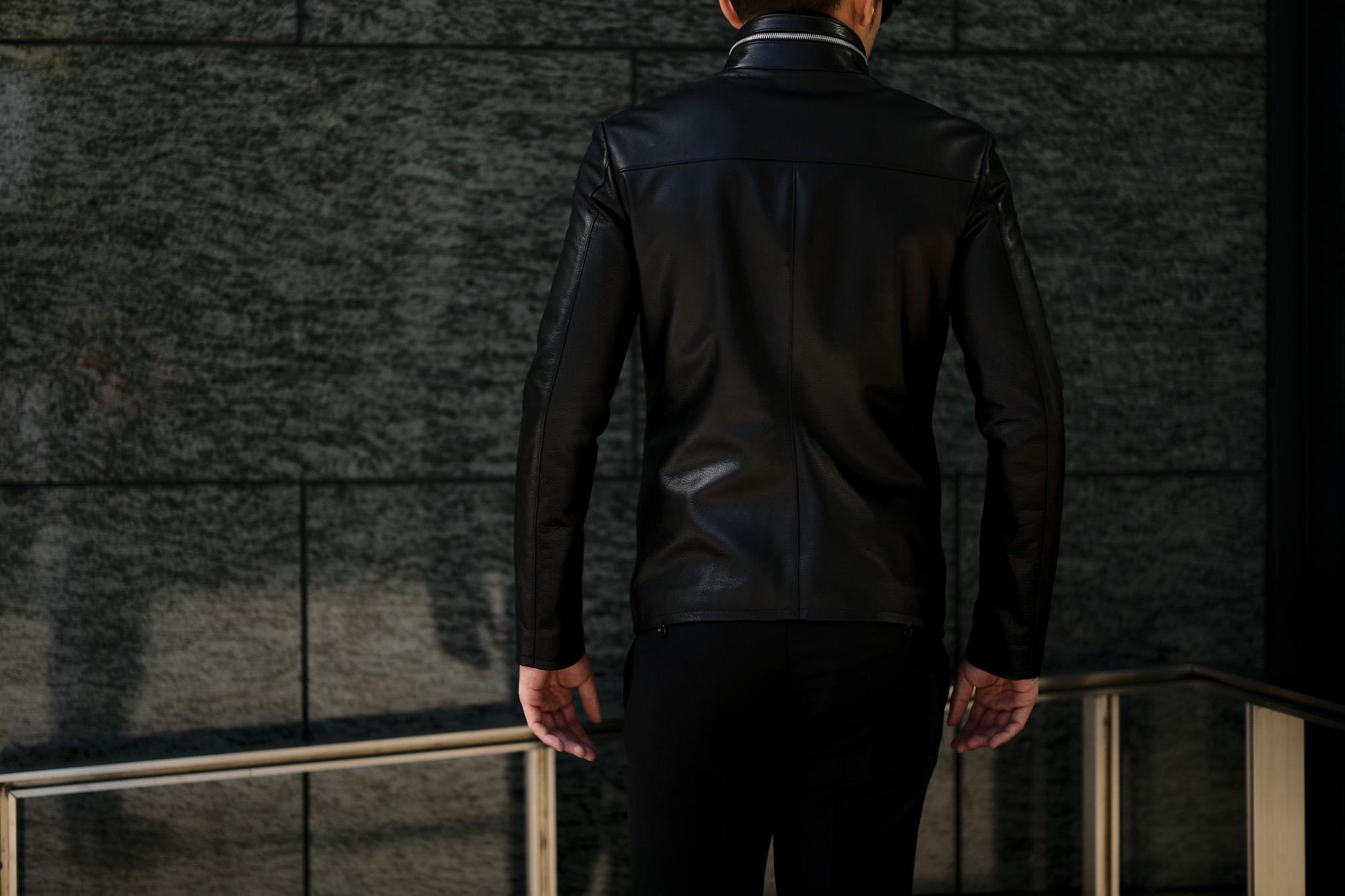 Cuervo (クエルボ) Satisfaction Leather Collection (サティスファクション レザー コレクション) HUNK(ハンク) BUFFALO LEATHER (バッファロー レザー) レザージャケット BLACK(ブラック) MADE IN JAPAN (日本製) 2019 秋冬 【ご予約受付中】 愛知 名古屋 altoediritto アルトエデリット バイオハザード ハンク バイオ BIOHAZARD