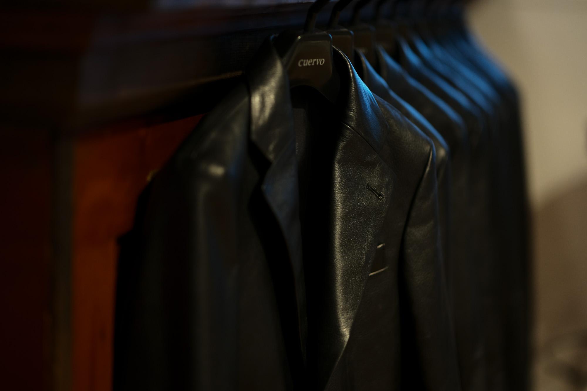 Cuervo (クエルボ) Satisfaction Leather Collection (サティスファクション レザー コレクション) LEON (レオン) BUFFALO LEATHER (バッファロー レザー) シングル テーラード ジャケット BLACK (ブラック) MADE IN JAPAN (日本製) 2019 秋冬新作 【入荷しました】【フリー分発売開始】 愛知 名古屋 altoediritto アルトエデリット